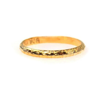 Very Tiny Vintage Baby Gold Ring Victorian, 1830s to 1900s