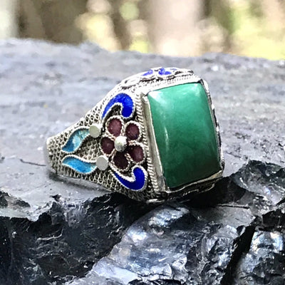 Vintage Chinese Export Filigree Ring Vintage, 1930s to 1980s