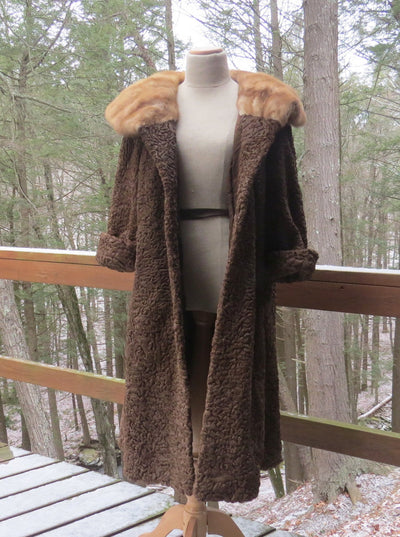 Vintage Schiaparelli Fur Coat Swing Full Length 1940's to 1950's Vintage, 1930s to 1980s