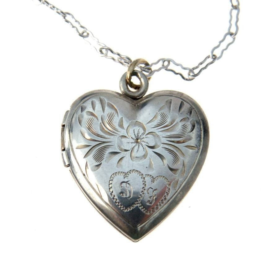 vintageheart lockets silver heart locket style vintage