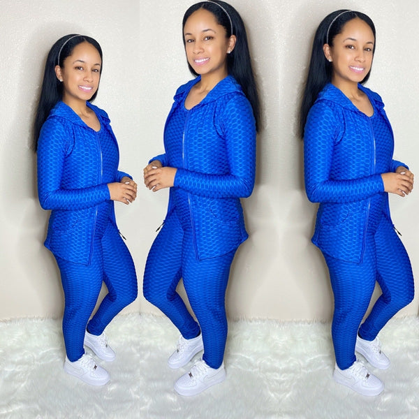 Honeycomb 3PC (Royal Blue)