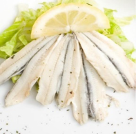 White Italian Anchovies Fillets Marinated 1Kg/Tray