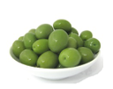 Val d'Elsa Green Sicilian Olives in Brine Unpitted 1Kg/Tray