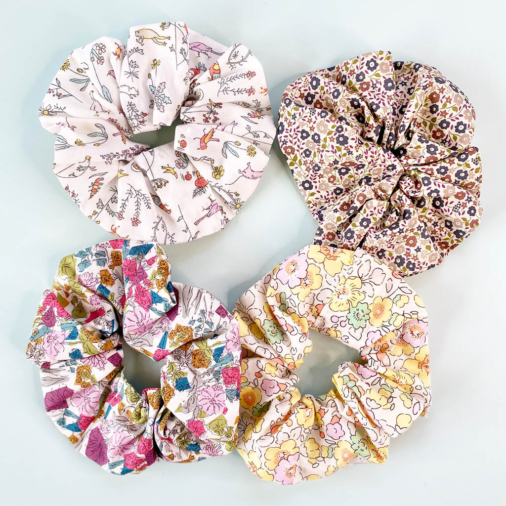 Make your own Scrunchie Sewing Kit with Liberty fabric