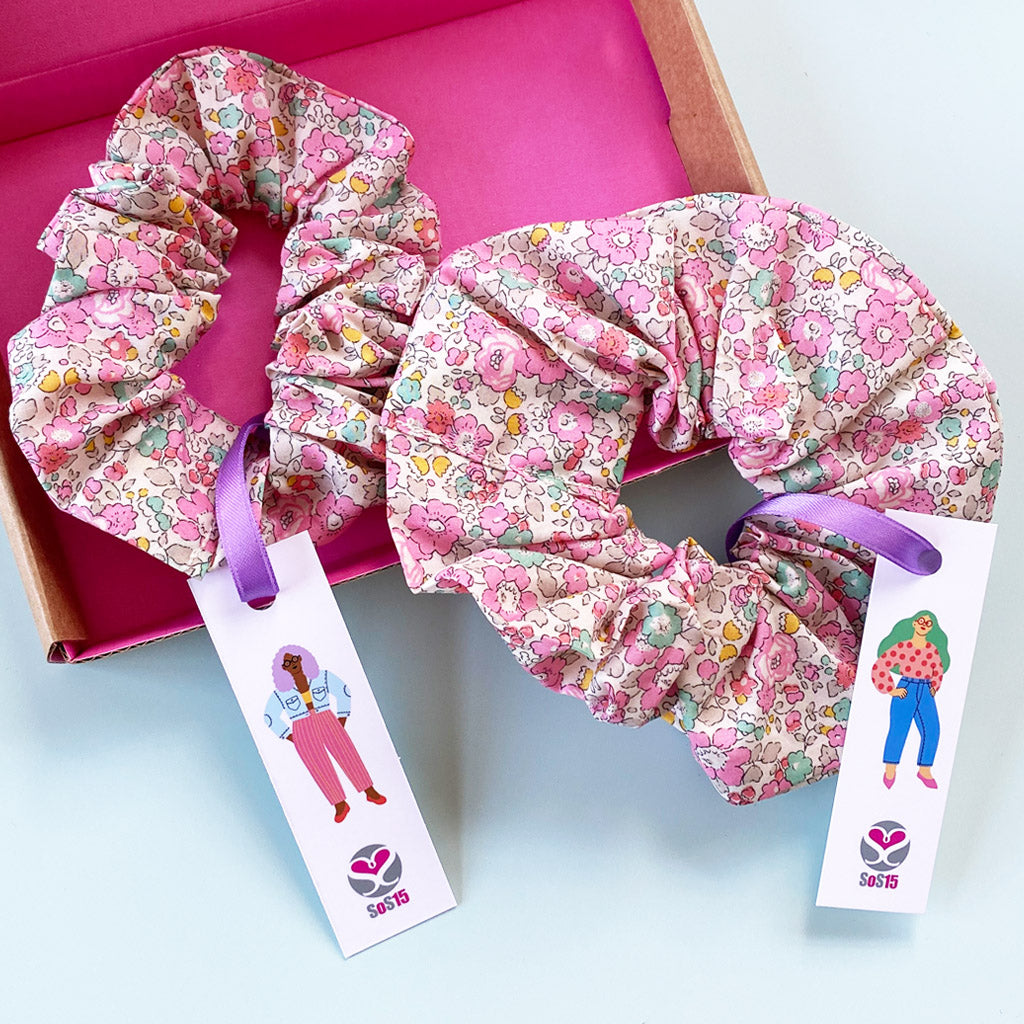 Mother and Daughter Betsy Ann matching Scrunchie Gift Box