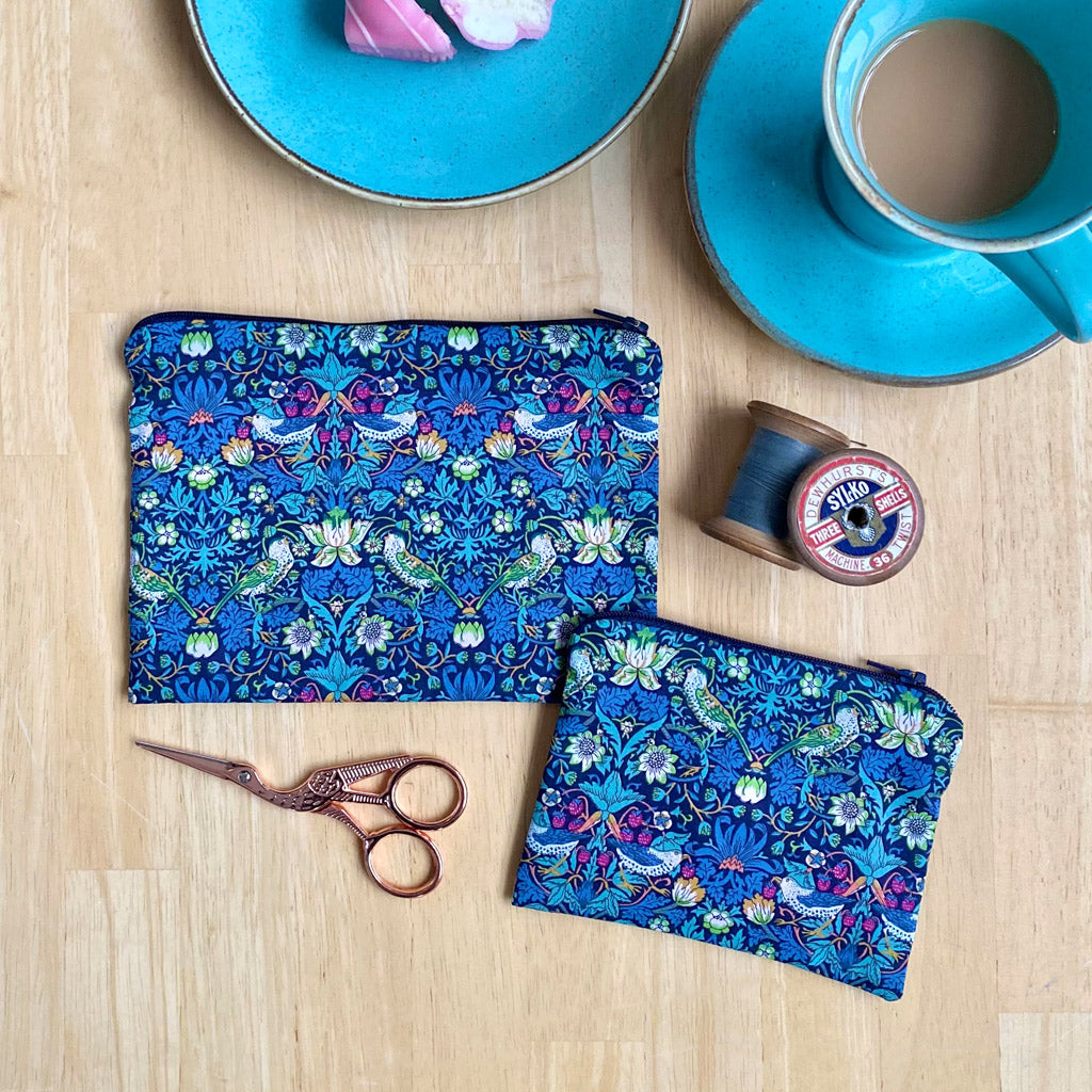 Liberty London fabric pouch sewing kit