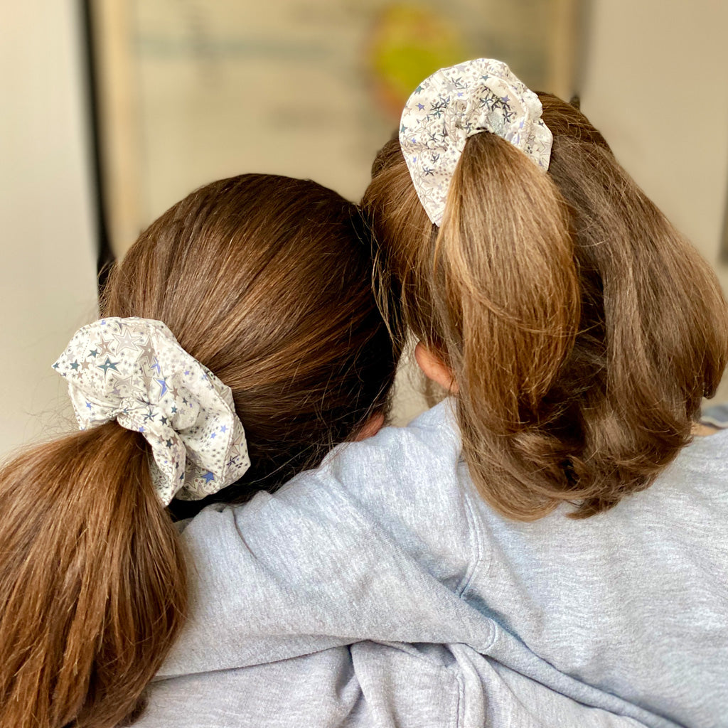 Mother and Daughter Matching Celestial Hair Scrunchies