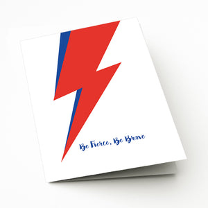 Lightning Bolt Greeting Card for Bowie fan