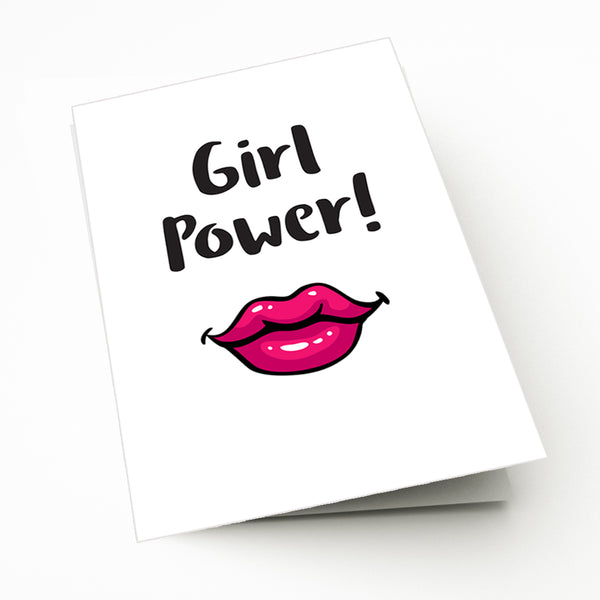 Girl Power Greeting Card