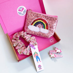 Personalised Glitter Rainbow Gift Set For Girls