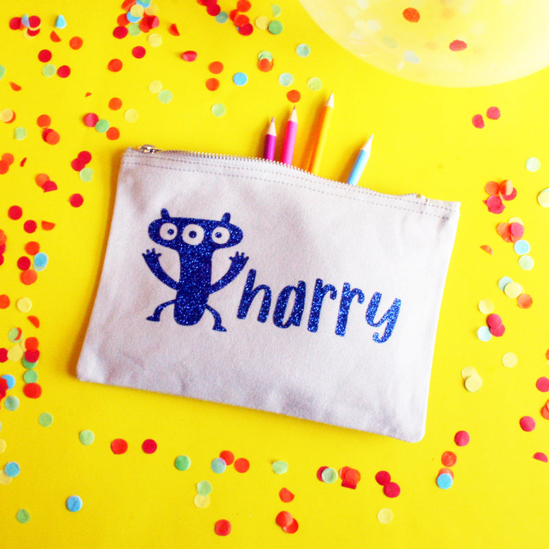 Little Monsters Personalised Pencil Case for Boys and Girls