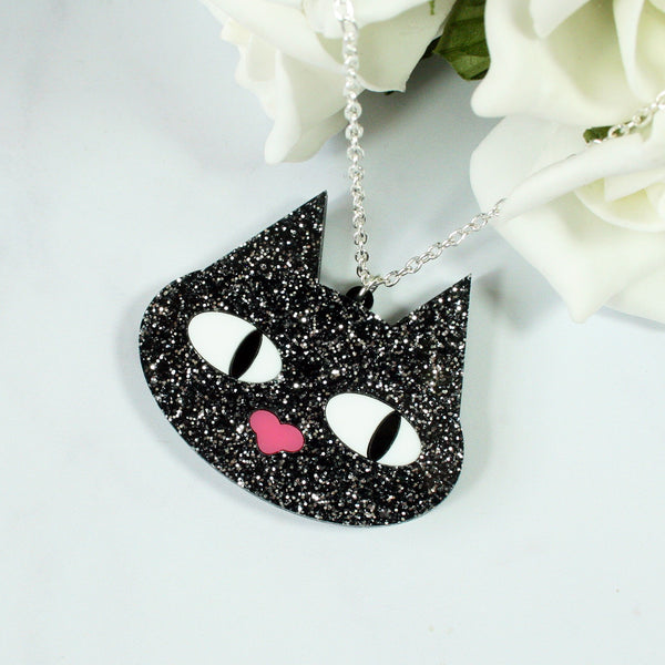 Kitty Glitter Necklace