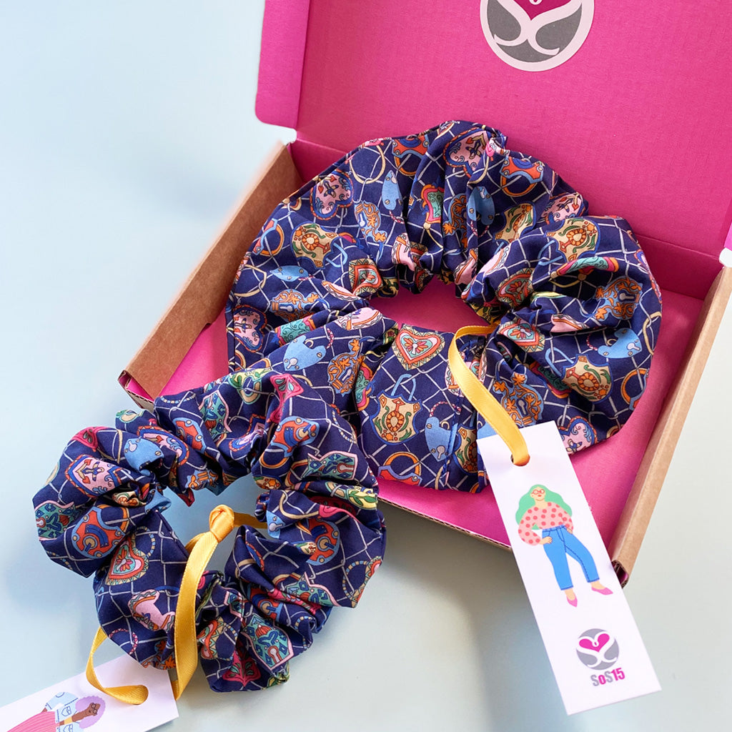 Mother and Daughter Lovelocks matching Scrunchie Gift Box
