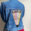 Love Beam Glitter Customised Denim Jacket
