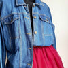 Love Rainbow Customised Denim Jacket