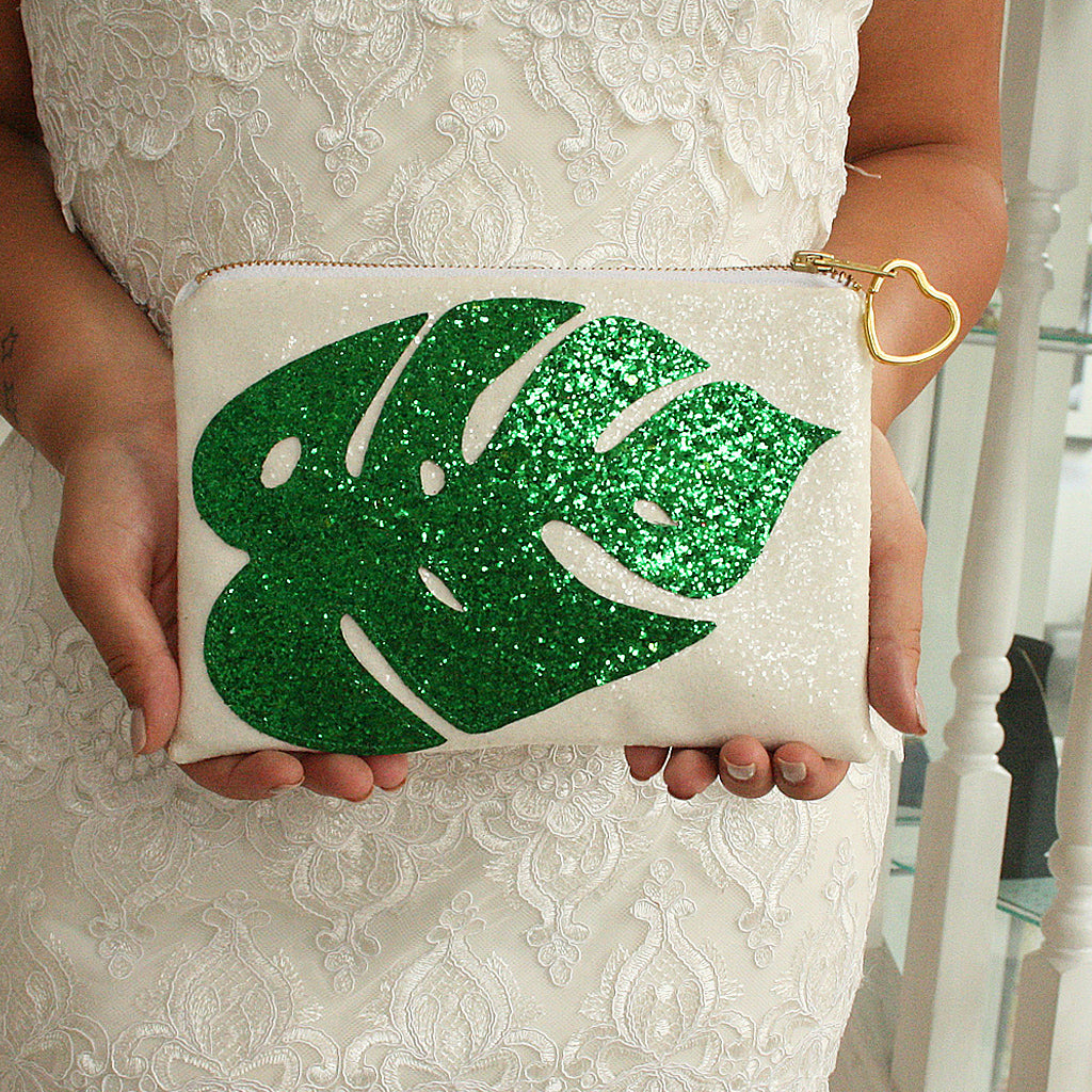Monstera Leaf Clutch Bag