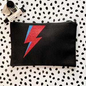Glitter Lightning Bolt Accessory Bag