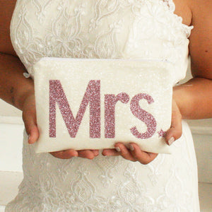 Modern Mrs Bridal Clutch Bag