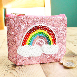 Personalised Monogram Glitter Rainbow Coin Purse