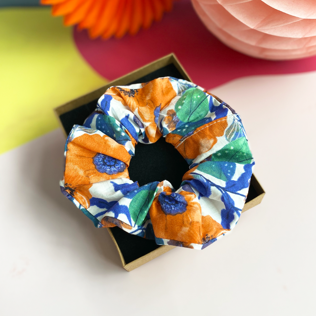 Winter Poppies XL Hair Scrunchie Gift Box