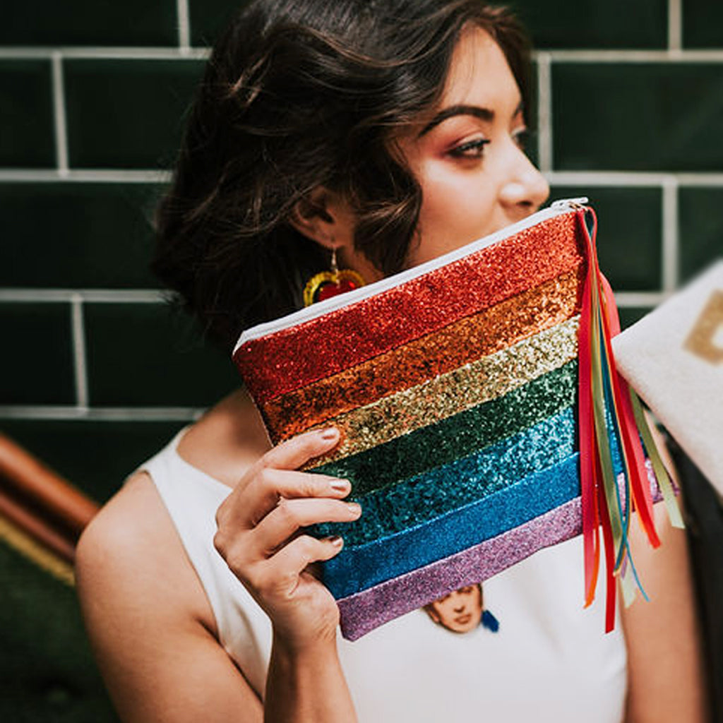 Rainbow Wedding Clutch Bag