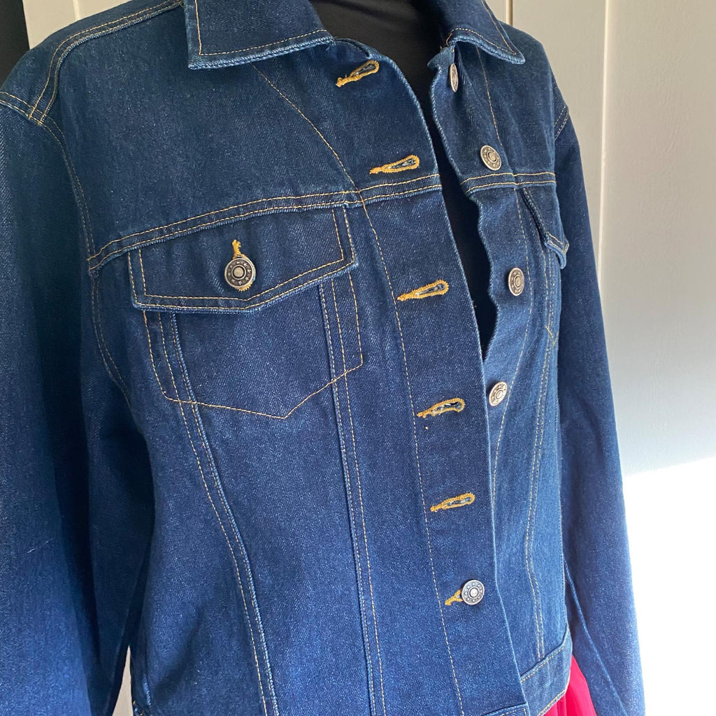 Rock & Roll Customised Dark Indigo Denim Jacket
