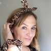 Leopard print duo women's hair accessories gift box