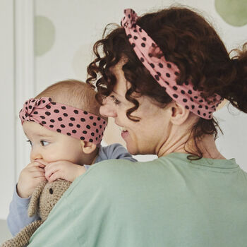 Mother and Daughter matching organic jersey headbands