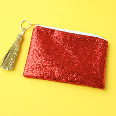 Superhero Flash Clutch Bag in Red Back