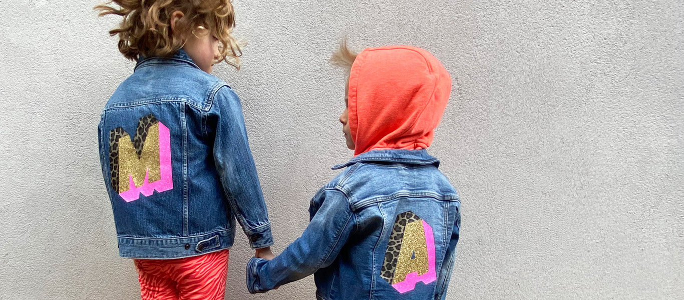 customised kids denim jacket