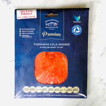 Woodbridge Smokehouse Tasmania Cold Smoked Ocean Trout 200g $29.95