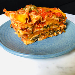 Spinach and Pumpkin Lasagna (1 serve)