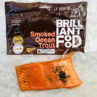Brilliant Food Smoked Ocean Trout aprox 200g (Single Portion)