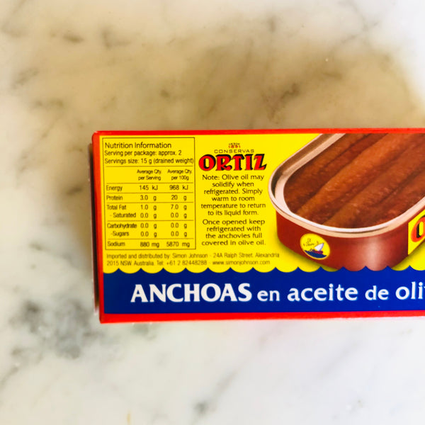 Ortiz Anchovies in Olive Oil  47.5g NET