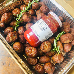50 x Fourth Village Meatballs with Homemade Sweet Chilli Jam
