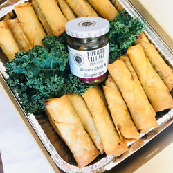 30 x Fourth Village 50g Spring Rolls with FVP Green Chilli & Ginger Jam