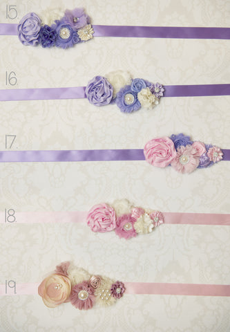 Floral Sashes - Set 3