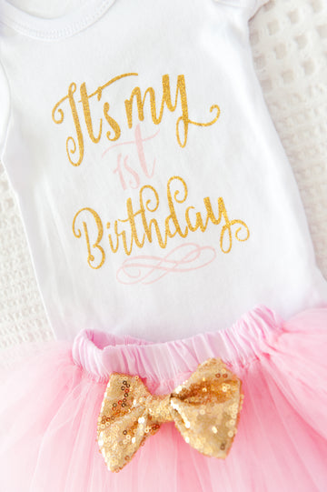 My 1st Birthday Tutu Set - Baby Pink SOLD OUT