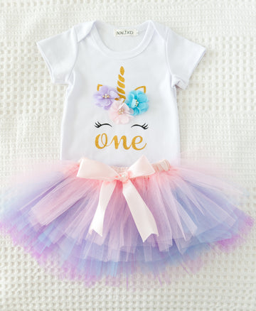 1st Birthday Rainbow Unicorn Set - SOLD OUT