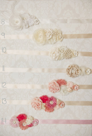 Floral Sashes - Set 2