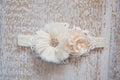 Lacey Cream Primrose Headband