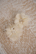 Chiffon Duo clips - Cream