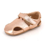 Pre-Walker Leather Sunday Sandals Rose Gold