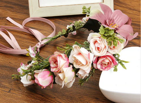 Fairy Floral Crown - Dusty Pink