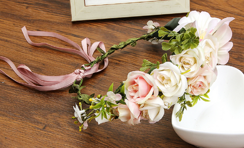 Fairy Floral Crown - Soft Pinks