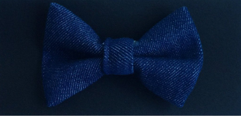 Bow Tie - Dark Blue Denim