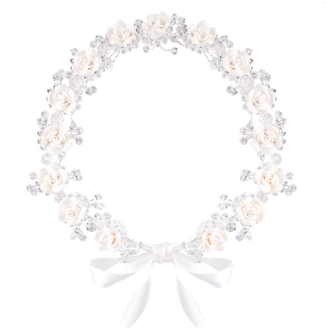 Floral Crown  LOLA - Ivory/ White