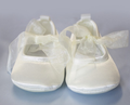 Satin ballet baby shoes - Plain