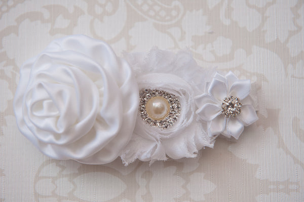 Wisteria White Headband ~1~