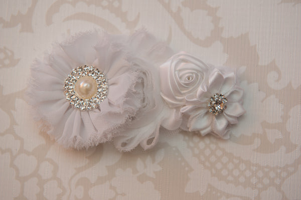 Wisteria White Headband ~3~
